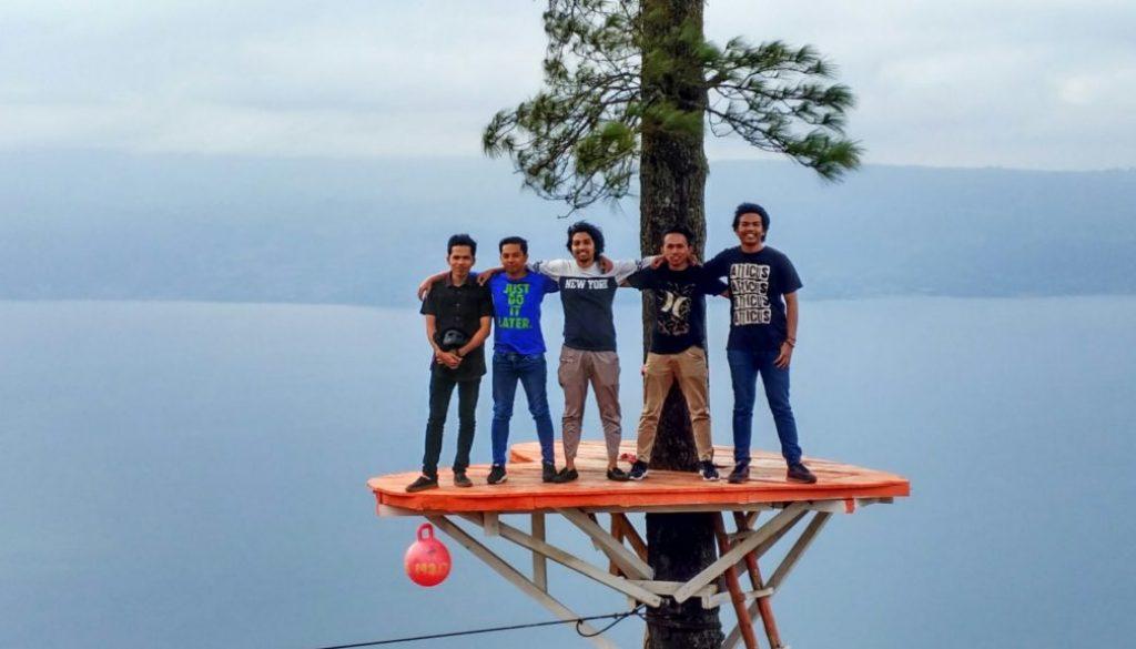 Lokasi Puncak Simarjarunjung Sumatera Utara
