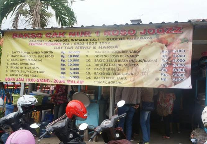 Ini Dia Lokasi Bakso Beranak Di Ngagel Surabaya Milik Cak Nur,