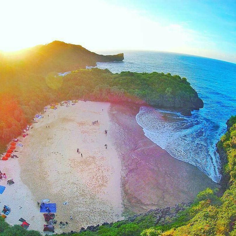 Rute Dan Lokasi Pantai Sedahan Gunung Kidul, Pantai Cocok Untuk Camping