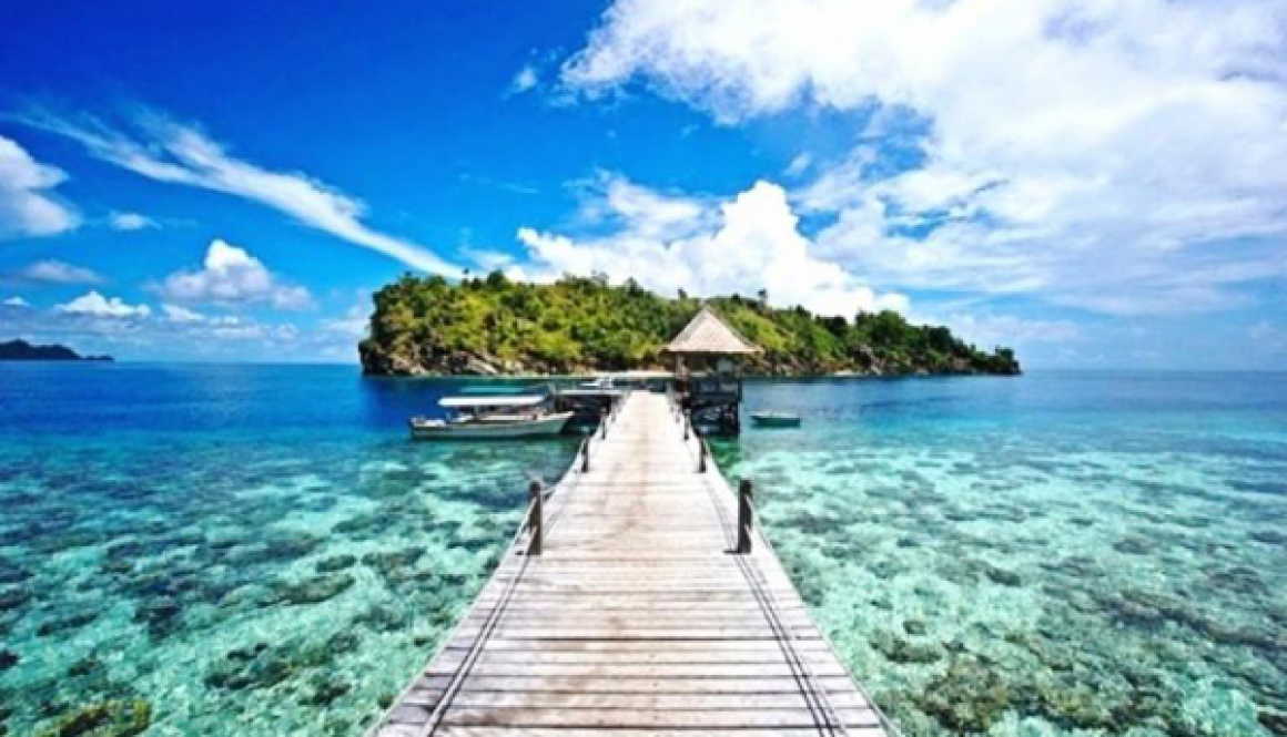 Gambar Kawasan wisata Pulau Tikus merupakan daratan seluas 1 hektar dan ditopang oleh terumbu karang seluas 200 hekta